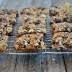 Chewy Granola Bars with Dark Chocolate, Almonds & Dried Cherries