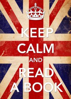 ".""Keep calm and read a book."""