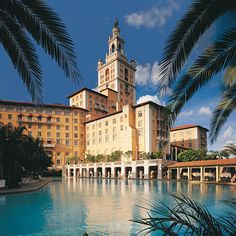 The Biltmore Hotel   Miami, FL   Graced with effortless beauty and sophistication, this luxurious hotel is a National Historic Landmark Resort located in the The City of Coral Gables.