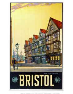 Bristol - Haunt of Long John Silver Art Print by National Railway Museum at King & McGaw Posters Uk, Train Posters, Railway Posters, Cool Posters, Vintage Travel Posters, Poster Prints, Art Prints, Modern Posters, Party Vintage