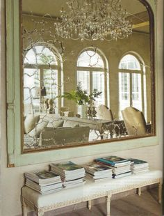 "When ever possible always put a large mirror across the room from some windows !  This gives you new ""free"" window ! !"