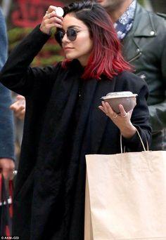 Strong red ombré hair colour