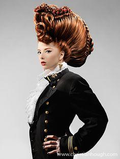 Avant garde hair by Christian Hough.-pin it from carden Love Hair, Great Hair, Big Hair, Hair Rainbow, Military Hair, Wacky Hair, Avant Garde Hair, Rides Front, Extreme Hair