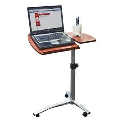 Angle & Height Adjustable Rolling Laptop Desk Cart Over Bed Hospital Table Stand Best Choice Products