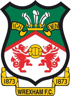 Wrexham Football Club - formerly participating in English League - this logo mentions 1873 - other logo on board mentions 1864 English Football Teams, Welsh Football, British Football, Soccer Logo, Football Team Logos, Sport Football, Club Soccer, Fifa, Badges