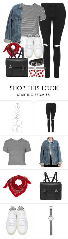"""""""Outfit for school with a Cambridge satchel"""" by ferned ❤ liked on Polyvore featuring Forever 21, Topshop, Levi's, Yves Saint Laurent, The Cambridge Satchel Company, Sonix, Witchery and The Kooples"""