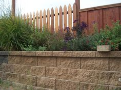 Square Foot Retaining Wall & Picket Fence