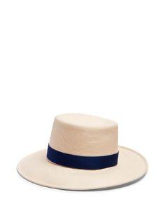 Allison Toyo straw boater hat | Gigi Burris Millinery | MATCHESFASHION.COM
