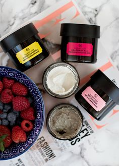 "The Body Shop Superfood Face Masks. Yes, these smell as delicious as they look. and they should seriously come with a ""do not eat"" warning. A dream The Body Shop, Body Shop At Home, Superfood, Face Care, Body Care, Essie, Sephora, Shops, Younger Looking Skin"