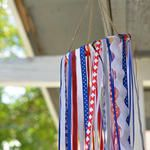 DIY Patriotic Windsock - a Great Scrapbuster!