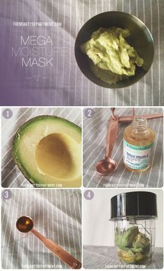We've rounded up four super moisturizing hair masks to DIY at home, all using ingredients right from your kitchen. Avocado makes for an easy shine-reviving mask.