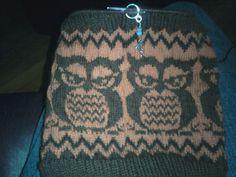 Owl Cowl!  Knit Picks fingering yarn.  Super warm.
