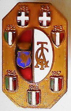 DISTINTIVO cm2x1 GRANDE TORINO CALCIO-1948-SCUDETTI- con PIEDINO- ORIGINALE+++