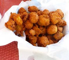 Hushpuppies - mine have a little sass of onion, pepper, and corn. There's nothing like them, served with fried catfish and cole slaw. Yesterday we enjoyed this at Hagy's Catfish Hotel on the banks of the Tennessee River at Shiloh.