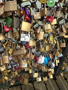 Put a lock on the bridge in Paris and throw the key into the river, for my little boy. <3