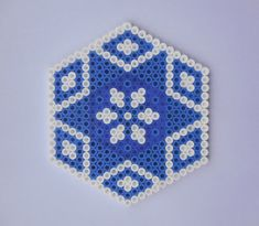 Blue Coaster Hama Beads by TCAshop