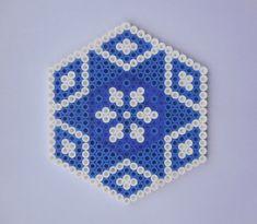 Blue Coaster Hama Beads by TCAshop