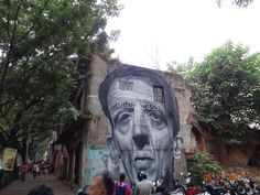 Face on the wall