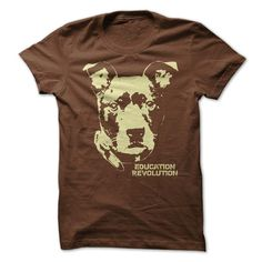 Pit Bull Education Revolution t-shirt. Pit bull t-shirts and hoodies available in several colors and styles.
