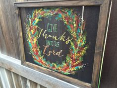 Give Thanks unto the LordWreathbright by RebecaFlottArts on Etsy