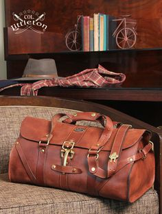 Travel in Style with this No.1 Grip bag. It opens wide and packs easily. #MadeintheUSA #leathergoods #leatherbags #menswear #mensaccessories #ColLittleton
