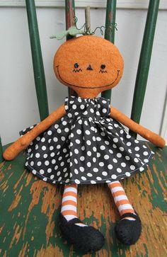 Cute primitave handmade doll.