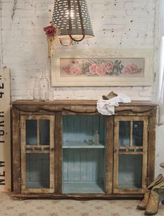 Painted Cottage Chic Shabby Aqua Hand Made by paintedcottages, $495.00
