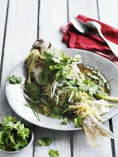 Snapper with Ginger & Green Onions