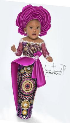 For my baby sis African Dresses For Kids, African Prom Dresses, Latest African Fashion Dresses, Dresses Kids Girl, Baby African Clothes, Ankara Styles For Kids, Baby Girl Dress Patterns, Kids Gown, African Traditional Dresses