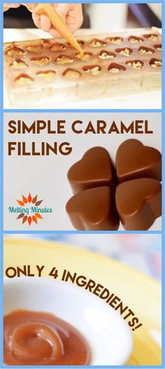 The perfect soft and gooey caramel for chocolates and more! The perfect soft and gooey caramel for chocolates and more! Chocolate Candy Recipes, Chocolate Candy Molds, Caramel Recipes, Chocolate Filling, Chocolate Caramels, Caramel Filling For Cake, Chocolate Shapes, Salted Caramels, Chocolate Chocolate