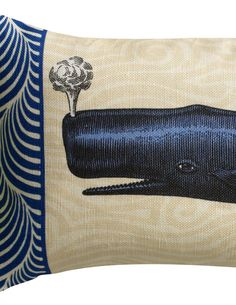 Blue Nautical Maine Whale Sachet Filled with by LeslieEvansDesigns