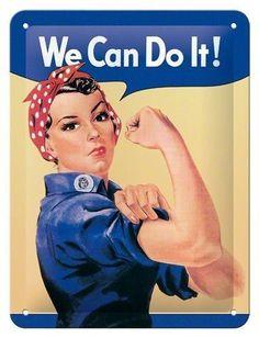 "Elevenfy | Nostalgic -  Art Blechschild ""We can do it!"""