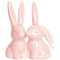 Amazon.com: Bunny Rabbit Ring Holder, Pink Ceramic Engagement and... (55 RON) ❤ liked on Polyvore featuring home, home decor, bunny, filler, bunny home decor, rabbit home decor, ceramic home decor and pink home decor