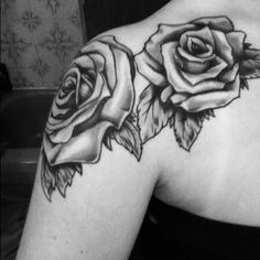 rose collar bone tattoo - Google Search