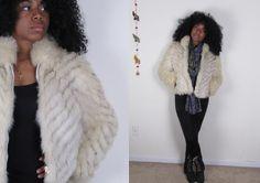 Vintage white fox tail coat