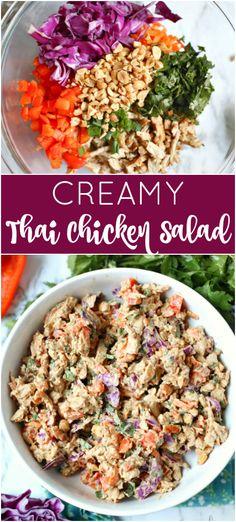 Creamy Thai Chicken Salad Recipe | Posted By: DebbieNet.com