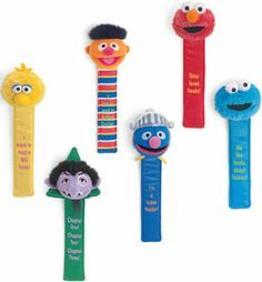 Cuddly Collectibles - Sesame Street Collectible Bookmarks Super Grover The Count Elmo Big Bird Cookie Monster Ernie