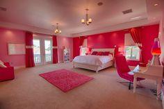 nice Teen girl bedroom ~ Interior Design by Ruth Stieren, Baer's Furniture. Master Bedroom Interior, Modern Master Bedroom, Modern Room, Huge Bedrooms, Awesome Bedrooms, Cool Rooms, Girls Bedroom, Girl Room, Dream Rooms