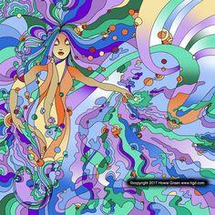 https://flic.kr/p/VTKyaD   Siren mermaid under the sea pop art painting by Howie Green www.hgd.com