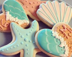 Popular items for mermaid cookies on Etsy