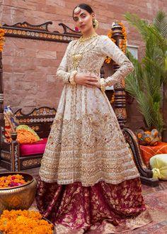 Buy Pakistani Bridal Dress-Pakistani Bridal Jamawar Lehnga for Wedding-Pakistani Bridal Wear - Pakistani Bridal Dresses Indian Bridal Outfits, Pakistani Wedding Outfits, Pakistani Dresses, Indian Dresses, Pakistani White Dress, Pakistani Mehndi Dress, Nikkah Dress, Shadi Dresses, Pakistani Bridal Couture
