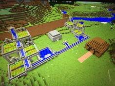 The farm and stables of my Minecraft kingdom (Still a w.i.p.)