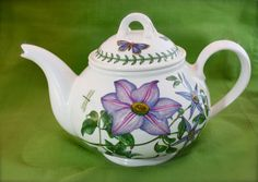 A beautiful Portmeirion Botanic Garden Teapot with Two Mugs GIVEAWAY for spring at La Bella Vita Cucina  www.italianbellavita.com