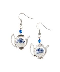 Another great find on #zulily! Blue Teapot Drop Earrings #zulilyfinds