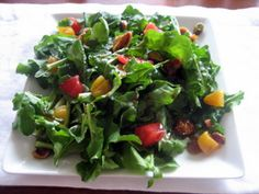 Arugula Salad with Dried Fruits