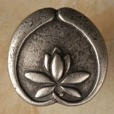 1 1/4' Asian lotus flower knob (Rust with Black) (Pack of 10)