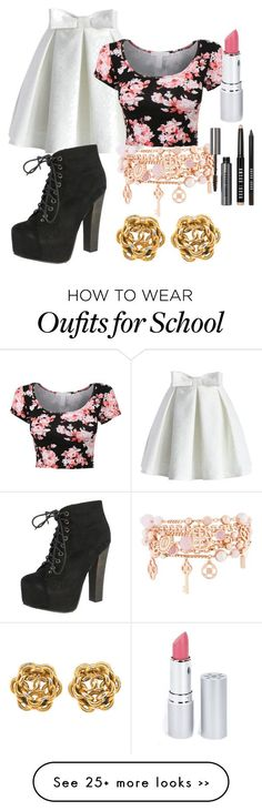 """School"" by zswager on Polyvore featuring Chicwish, Breckelle's, Henri Bendel, HoneyBee Gardens and Bobbi Brown Cosmetics"
