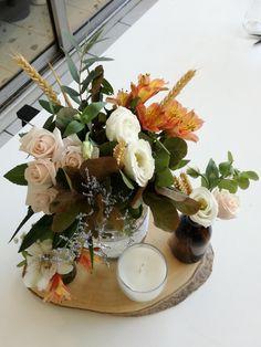 Πρόταση για centerpiece δεξίωσης φθινοπωρινου γάμου ή βάπτισης. www.myrovolosshop.gr