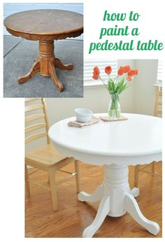how to paint a pedestal table (a tutorial)