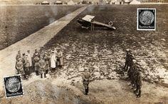 Manfred von Richthofen's Albatros Scout - German Postcard